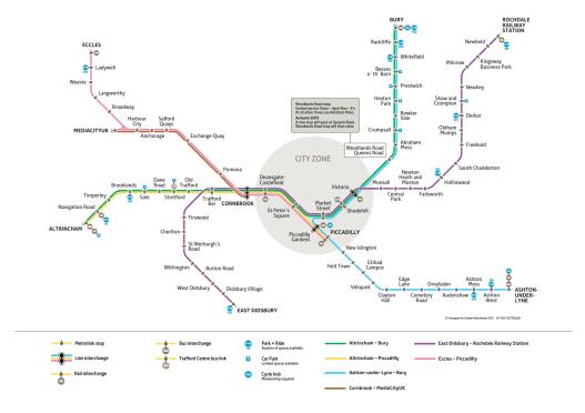 Manchester Metrolink Map