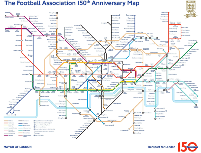 FA 150th anniversary map