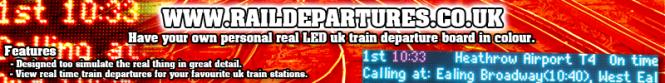 Rail Departure Banner